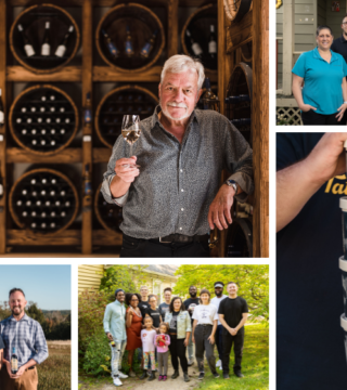 grid of five photos for the taste awards. hanspeter stutz, la cuisine robicheau, van dyk's by nature, the biscuit eater and tatamagouche ice creamery